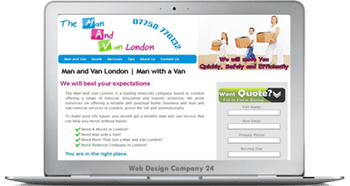 Web Design Porfolio: The Man And Van
