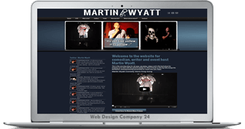 Website Design for comediants