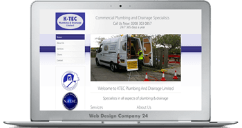 Web Design Porfolio: KTEC Plumbing and Drainage Ltd