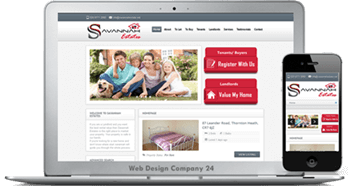 Web Design for letting Egents: Savannah Estate