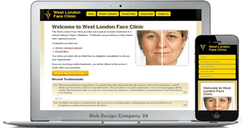 Web Design Porfolio: West London Face Clinic