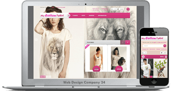 Web Design Porfolio: My Cotton Tshirt