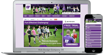 Web Design Porfolio: Enlite Fitness