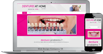 Web Design Porfolio: dentures at home
