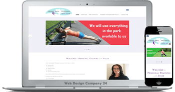 Web Design Porfolio: personal training with julie
