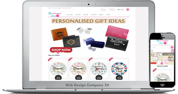 Web Design Porfolio: personalised gifts 24