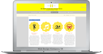 Web Design Porfolio: The Hall School