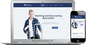 Web Design Porfolio: Grainger Decorators